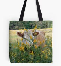 The Golden Cow In The Golden Pasture Tote Bag