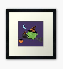 Halloween - Mochi Witch and Friends Framed Print
