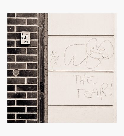 meet the fear Photographic Print