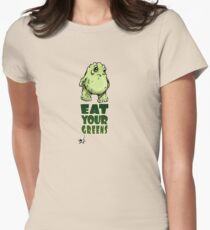 Eat Your Greens Women's Fitted T-Shirt