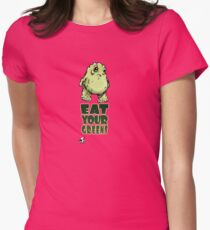 Eat Your Greens Womens Fitted T-Shirt