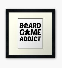 Board Game Addict for Board Game Geeks Framed Print