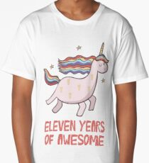 11th Birthday Gift T-Shirt Eleven Years of Awesome Long T-Shirt
