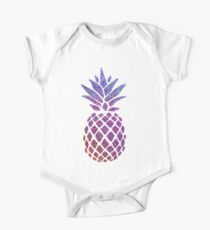 Colorful Glitter Pineapple One Piece - Short Sleeve