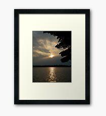 Monadnock Sunset Framed Print