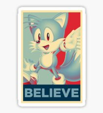 [V2] Tails (Sonic Mania) Hope Poster-Style Sticker