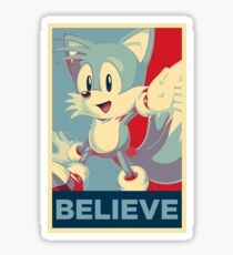 [V1] Tails (Sonic Mania) Hope Poster-Style Sticker