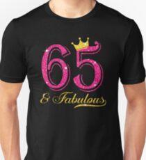 65th Birthday Women Fabulous Queen Shirt Unisex T-Shirt