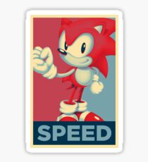 [V2] Sonic (Sonic Mania) Hope Poster-Style Sticker