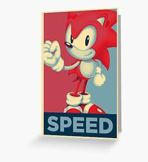 [V2] Sonic (Sonic Mania) Hope Poster-Style Greeting Card
