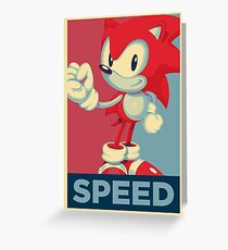 [V1] Sonic (Sonic Mania) Hope Poster-Style Greeting Card