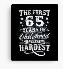 Classic Vintage Retro 65th Birthday 65 Year Old Gift Canvas Print