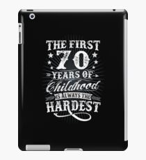 Classic Vintage Retro 70th Birthday 70 Year Old Gift iPad Case/Skin