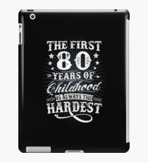Funny Classic Vintage Retro 80th Birthday Gift iPad Case/Skin