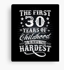 Classic Vintage Retro 30th Birthday 30 Year Old Gift Canvas Print