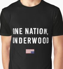 House of Cards: One Nation, Underwood Fan Art Shirt Graphic T-Shirt
