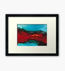 Abstract seascape in alcohol inks Framed Print