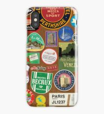 Luggage Stickers iPhone Case/Skin