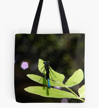 Damselfly and  Lavender Jewels Tote Bag