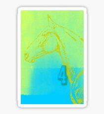 horse polo blue green Sticker