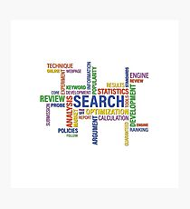 Internet Search SEO Words Cloud Photographic Print