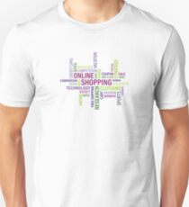 Internet Online Shopping Lifestyle WordCloud T-Shirt