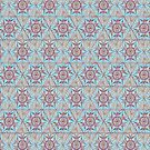 Hexagon Tile  Star Drawing Geometric Pattern Light Blue by Cveta