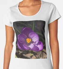 The First Crocus Celebrating Spring Women's Premium T-Shirt