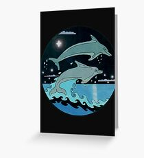 Dolphin`Leap for the Stars II'  Greeting Card