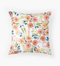 Floral Dance Throw Pillow