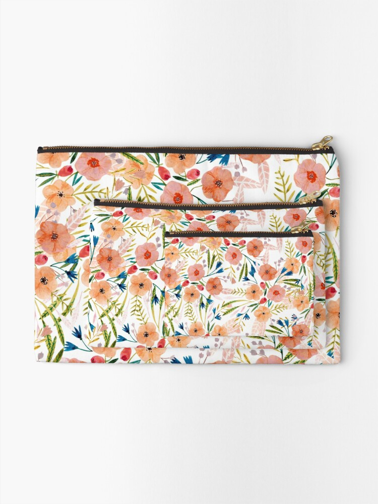 Alternate view of Floral Dance Zipper Pouch