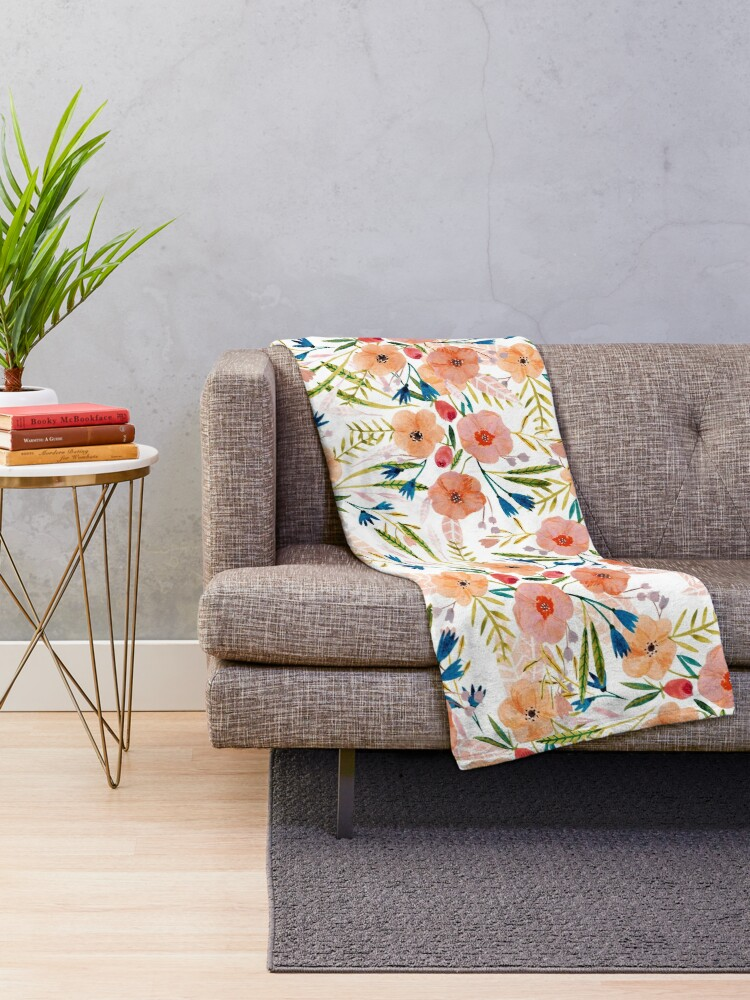Alternate view of Floral Dance Throw Blanket