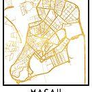 MACAU CHINA CITY STREET MAP ART by deificusArt