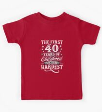 Classic Vintage Retro 40th Birthday 40 Year Old Gift Kids Clothes