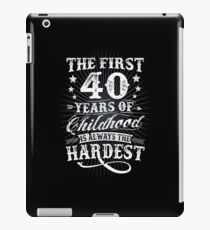 Classic Vintage Retro 40th Birthday 40 Year Old Gift iPad Case/Skin