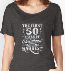 Classic Vintage Retro 50th Birthday 50 Year Old Gift Women's Relaxed Fit T-Shirt