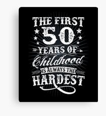 Classic Vintage Retro 50th Birthday 50 Year Old Gift Canvas Print