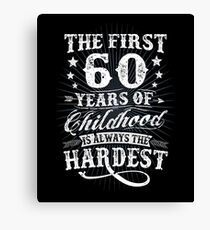 Classic Vintage Retro 60th Birthday 60 Year Old Gift Canvas Print