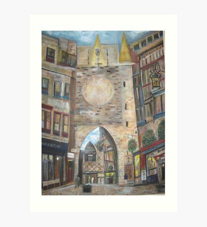 Cityscape European      Art Print