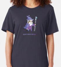 Camiseta ajustada Sorcerer de fuente abierta de 8 bits - Programación