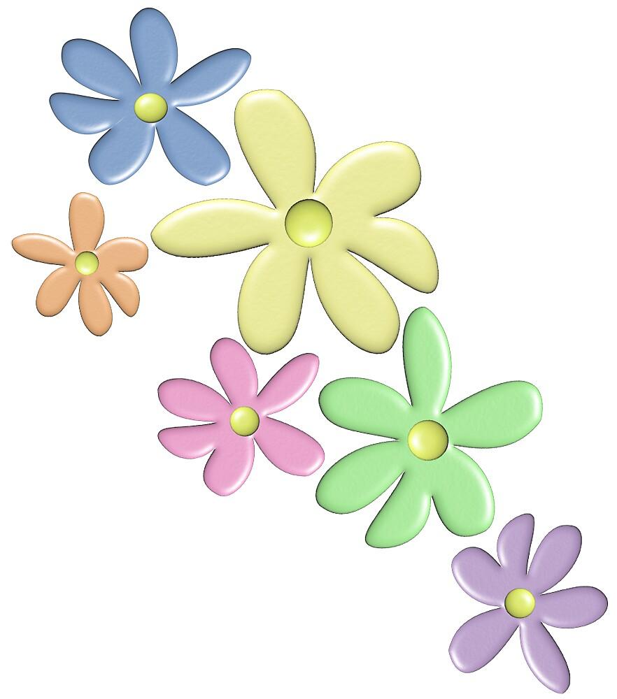 pastel flowers by FishCastle