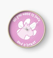 All you need is love and a BOXER - Pink Clock
