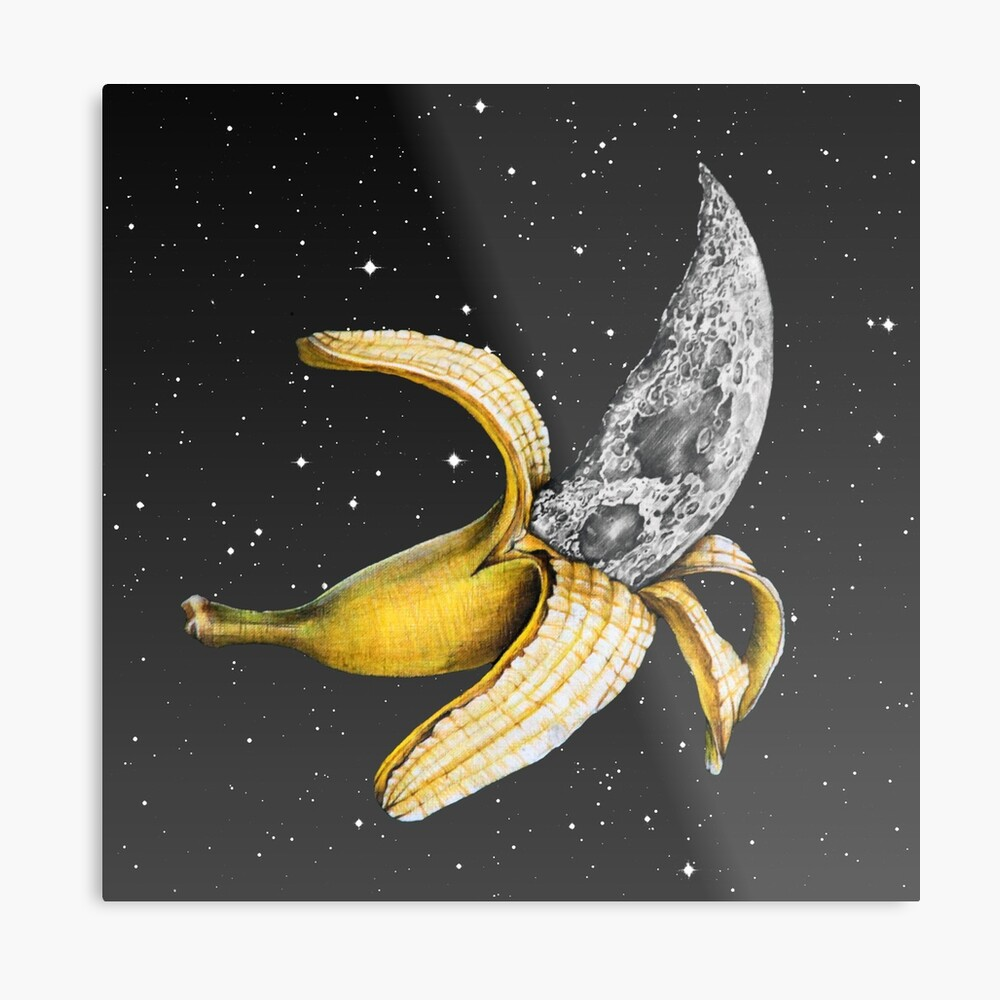 Moon Banana! Metal Print