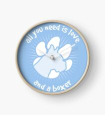 All you need is love and a BOXER - Blue Clock