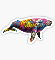 Tagged Whale Sticker