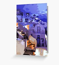 Santorini at Night Greeting Card
