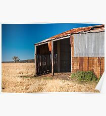 Abandoned outback farming shed in the country Poster