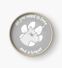 All you need is love and a BOXER - Grey Clock