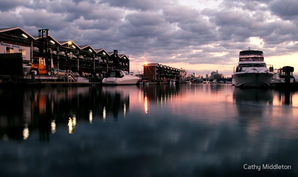 St Kilda Marina. by Cathy Middleton