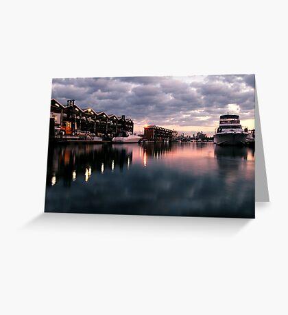 St Kilda Marina. Greeting Card